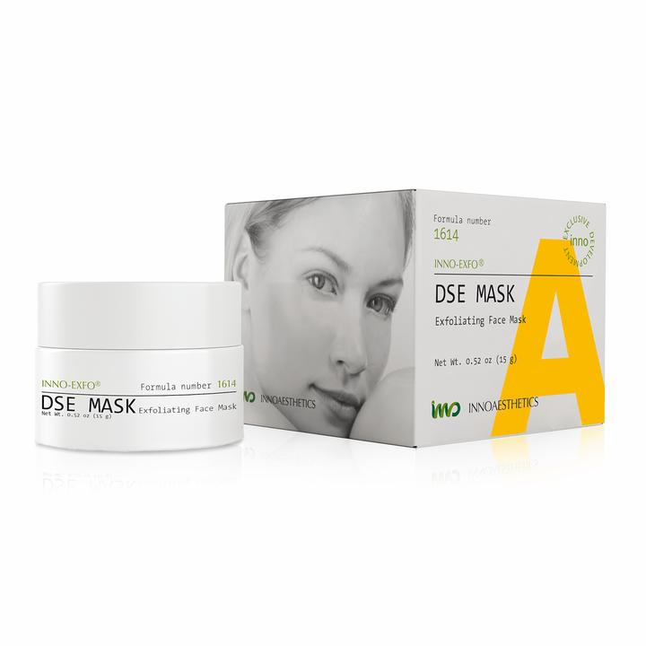 The DSE Mask and Peel Treatment bottle and box